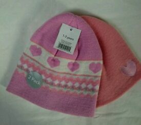 NEW Girl's Winter Hats (2 Pack)
