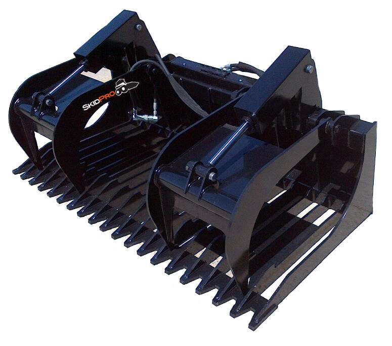 "84"" Extreme Duty Rock Grapple Skid Steer Attachment Bobcat John Deere Gehl"