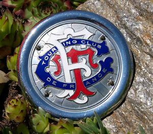 Vintage automobile car club badge tcf touring club for Automobile club de france piscine