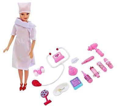 Doktorspiel Puppenklinik Arztset  Zubehör Puppe Krankenschwester 16 tlg NEU