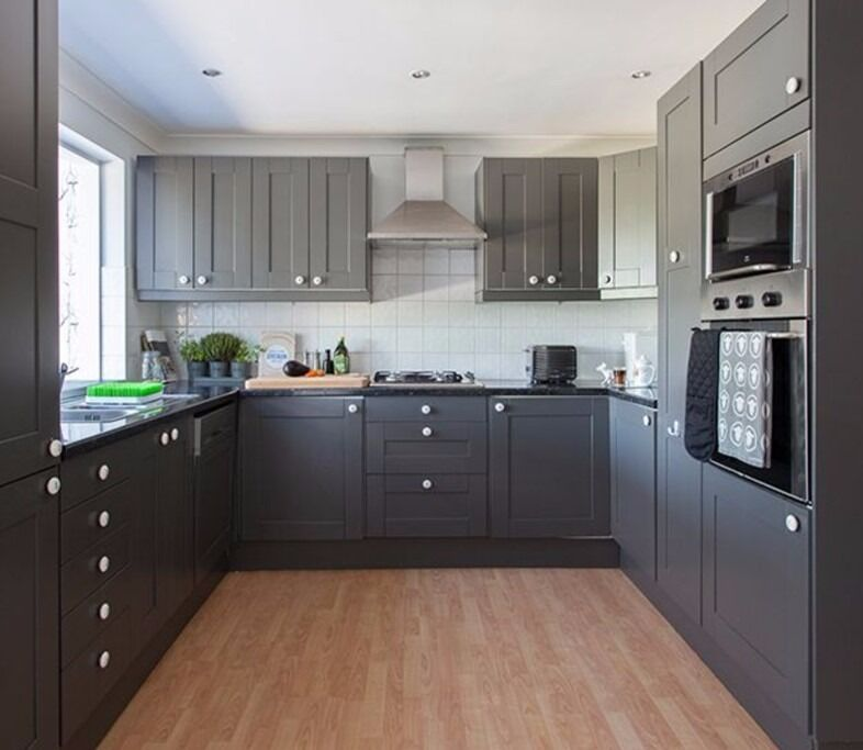 Kitchen Cupboard Doors | Grey Ikea Savedal Shaker Style Kitchen Cupboard Doors And Kitchen