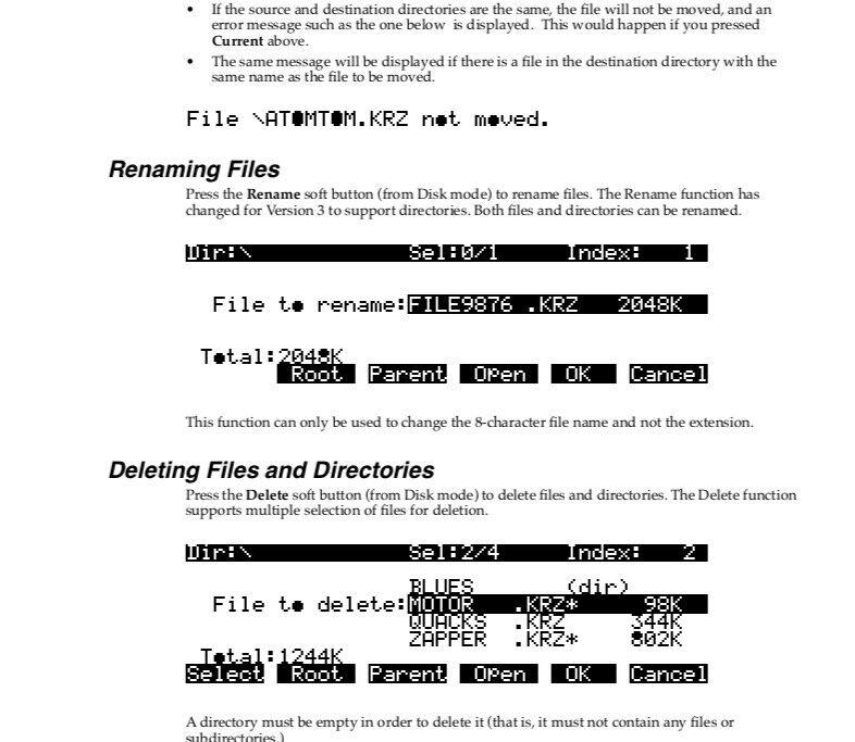 Kurzweil K2000 V3 Version 3 Musician s Guide Supplement Manual - $19.95