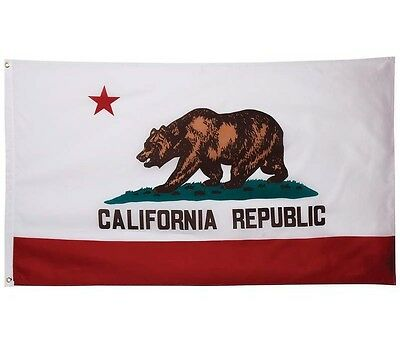 3'x5 Polyester CALIFORNIA STATE FLAG CA USA Bear Republic Outdoor Banner