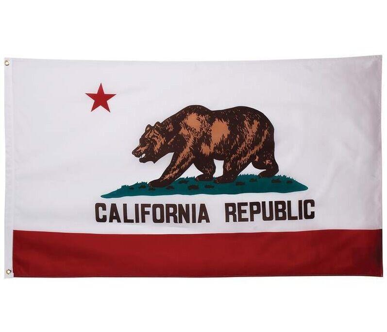 3'x5 Polyester CALIFORNIA STATE FLAG CA USA Bear Republic Outdoor Banner