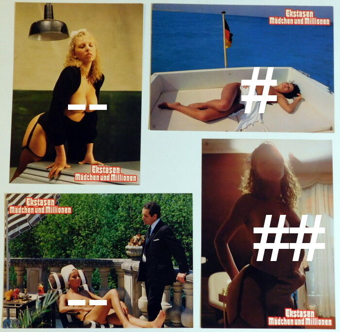 Sexploitation PLEASURE SO DEEP lobby cards 16 original vintage stills 1981