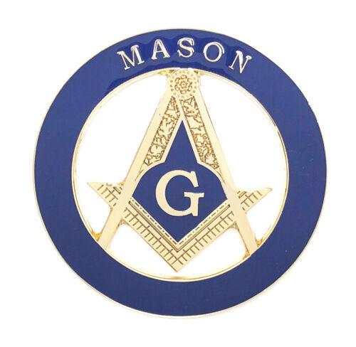 Masonic car emblem 3 inch gold #CD12