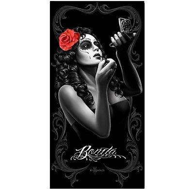 Rock Solid Tattoo (David Gonzales Art DGA Bonita Tattoo Make-Up Goth Punk Rock Beach Towel)