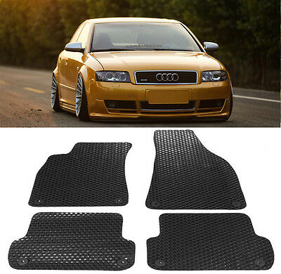 All Weather BlackBeige Rubber Floor Mats Front Rear For 02 08 Audi A4 S4 RS4 B6