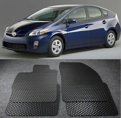 All Weather Black Rubber Floor Mats Liners Front Rear For 10 15 Toyota Prius