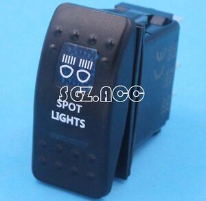 NARVA ARB CARLING STYLE ROCKER SWITCH WITH SPOT LIGHTS BLUE LED ON/OFF SWITCH