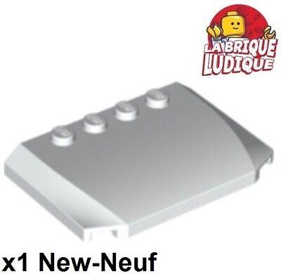 11399 WHITE PLATE 4x4 con Clip orizzontale qty:2 LEGO RICAMBI