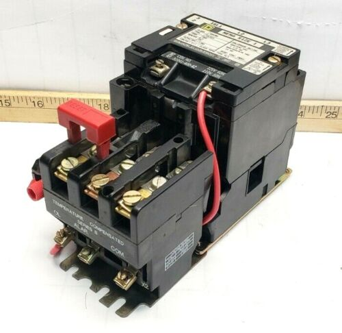 SQUARE D SIZE 1 MOTOR STARTER 10 HP 120V COIL CLASS 8536 TYPE SC03 FORM BS