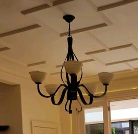 Black dining room chandelier