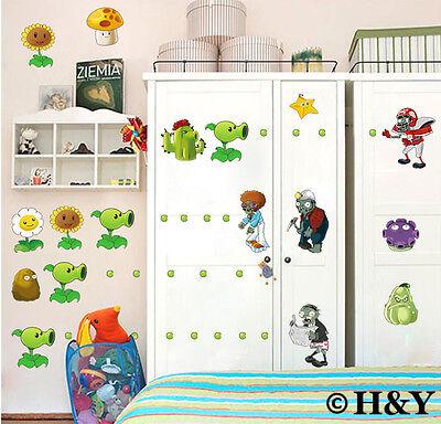 Plants Vs Zombies Removable Wall Stickers Vinyl Nursery Kids Decal Home Decor (Zombie Baby Dekoration)