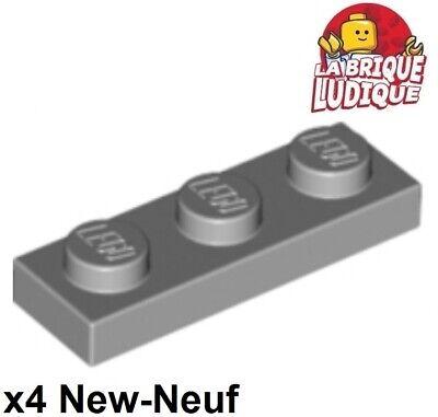 Lego 3623 x4 Plate 1 x 3  Light Bluish Grey