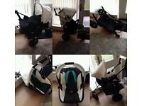 Hauck three piece pram from newborn brand new frame other parts used few times great condition