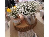 22 Hessian and Lace mason jars