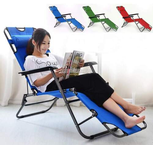 Folding Chaise Lounge Chair Patio Outdoor Pool ...