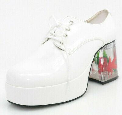 Funtasma Pimp-02 Gr.41 Higher-Heels Disco-Plateauschuhe Schuhe Unisex Weiß Neu