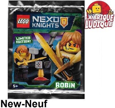 Lego Figurine Minifig Nexo Knights Robin Sword Hammer Polybag 271824 nex139 New