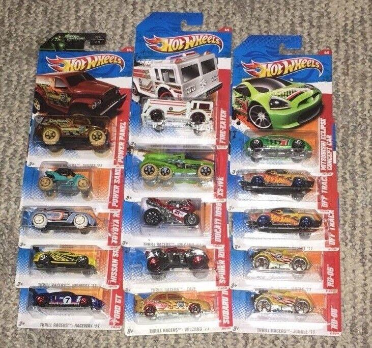 HW '11 THRILL RACERS VOLCANO, CAVE, DESERT, RACEWAY, HIGHWAY