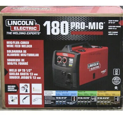 Lincoln Electric Pro-mig 180 Welder 230v Mig Flux-cored Wire Feed Model K2481-1