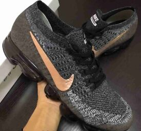 1fddbf718abfe New Nike Vapormax Flyknit Men s Women s Trainers Sizes 6-11 grey black
