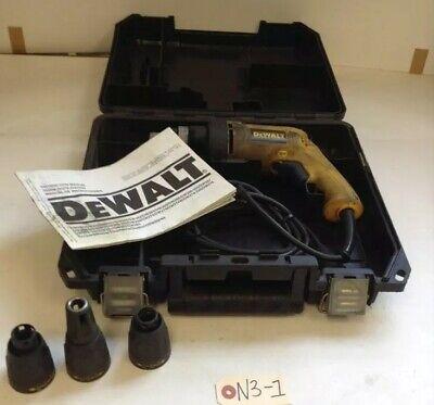 Dewalt Dw260 Vsr All Purpose Electric Screwdriver W 3 Nosepieces Warranty