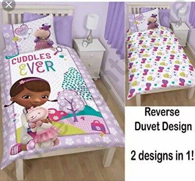 s Patch Single Reversible Duvet Cover Bed Set Dottie Stuffy (Doc Mcstuffins Bettwäsche)