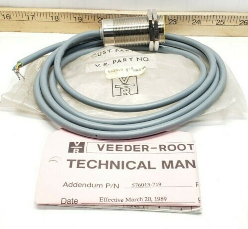 NEW VEEDER ROOT INDUCTIVE PROXIMITY SWITCH 250 VAC 30 MM 653010-210
