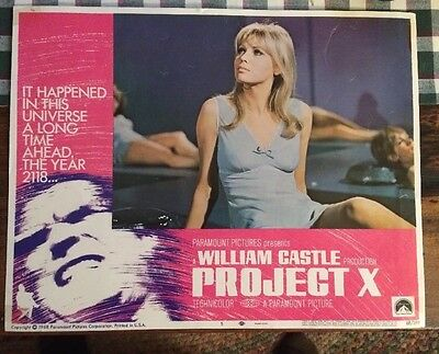 Project X Original 1968 Lobby Card #5 Christopher George,Greta Baldwin,read Desc