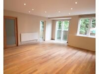 fully refurbished to a high standard, 2 double bedroom apartment with 2 bathrooms