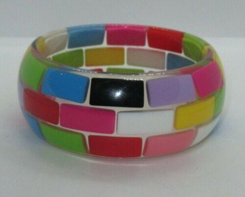 Vintage Lucite Bangle Bracelet Jewelry Designer (358G)