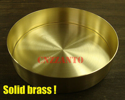 Solid brass round compact dish / plate tray Diameter 140mm Z241