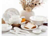 Floral Dinnerware Sets Ceramic (China Bone) 14 pcs / Beige Colour