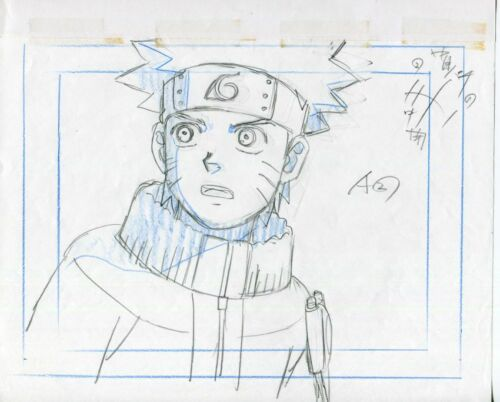NARUTO Anime Cel Genga Sketch and Layout Set #30 Studio Pierrot