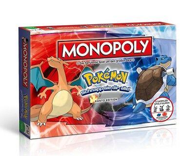 Monopoly Pokémon Kanto Edition Spiel Brettspiel Gesellchaftsspiel deutsch NEU ()