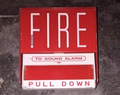 Vintage Fire-lite Alarms Bg6 Pull Station And Back Box Non-coded Fire Alarm