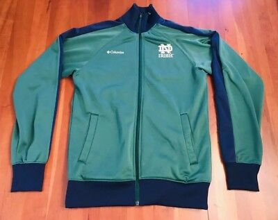 Fleece Notre Dame Irish Jacket - Notre Dame Fighting Irish Columbia Full Zip Embroidered Fleece Jacket Mens Small