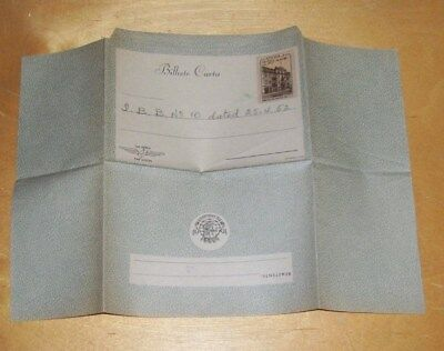 BILHETE CARTA (AIR MAIL LETTER) ANGOLA PRE-STAMPED 2.50 AGS. ?1952 UNUSED