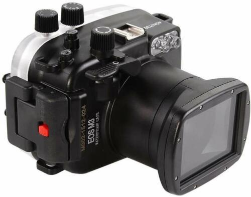 Meikon 130ft 40m Underwater Housing Waterproof Case Canon EOS M3 W 18-55mm Lens