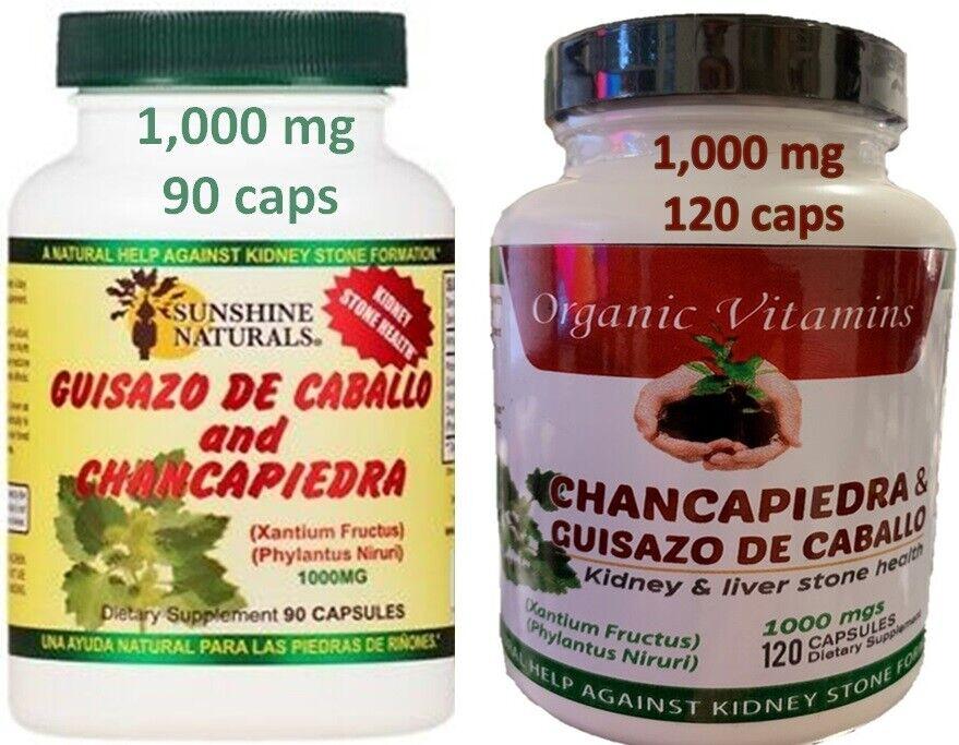 2 Guisazo de Caballo & Chanca Piedra Capsules Pastillas Para Los Riñones Pills