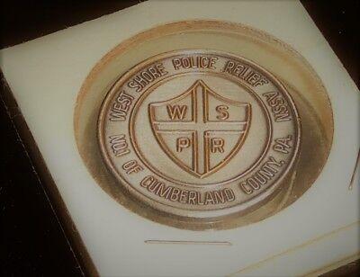 1970 Token Medal West Shore Police Relief Assn. Cumberland County Pennsylvania