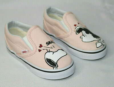 Vans Peanuts  Classic Slip On    Kids Shoes Snoopy Lucy - Smack / Pearl Size:7.0