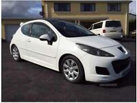 stunning white peugot 207 for sale