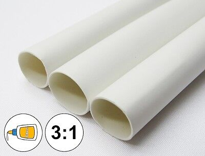 1 Foot 316 White Heat Shrink Tube 31 Dual Wall Adhesive Glue Line Marine