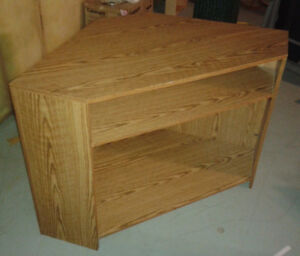 CORNER STORAGE LIGHT OAK VENEER SHELF UNIT