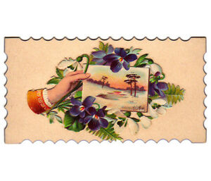 VICTORIAN GIFT LABEL COLOUR CARD STOCK CHRISTINA MUMM WITH FLAP