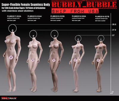 NEW TEEN GIRL TYPE PHICEN 1/6 Steel Skeleton Female Seamless Figure Body ☆USA☆ - Female Skeleton