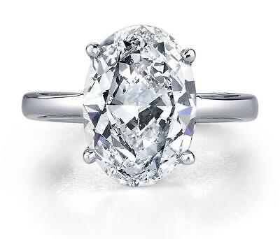 Solitaire 0.50 Ct Oval Brilliant Cut Diamond Engagement Ring  G,VS2 GIA 14K WG